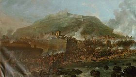 Storming of San Sebastian by Denis Dighton